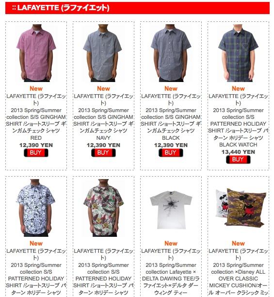 Lafa shirts