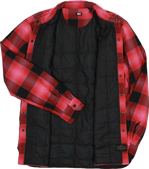 Levis-skate-quilted-mason-flannel-shirt-red-plaid-open